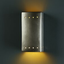 Ambiance Open Top and Bottom 1 Light Wall Sconce