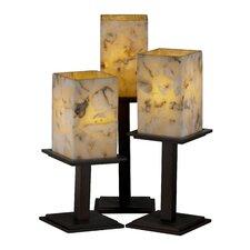 "Alabaster Rocks Montana Portable 16.75"" H Table Lamp with Rectangular Shade (Set of 3)"