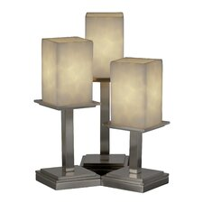 """Clouds Montana Portable 16.75"""" H Table Lamp with Rectangular Shade (Set of 3)"""