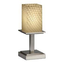 "Fusion Montana Portable 12.75"" H Table Lamp with Rectangular Shade"
