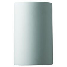 Ambiance Open Top and Bottom Small Cylinder 1 Light Wall Sconce