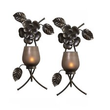 Rustic Flowers Metal Sconce