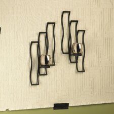 2-Wave Mercury Wall Sconce (Set of 2)