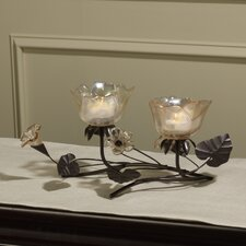 2-Tealight Centerpiece Sconce