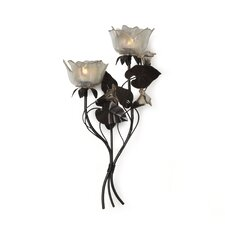 2-Light Left Rose Sconce