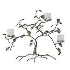 3 Light Golden Branches Candleholder