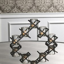 5 Light Criss Cross Linear Candleholder