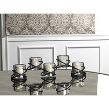 5 Light Double Rings Linear Sconce