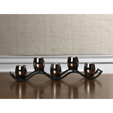 5 Light Wave Mercury Linear Tealight Holder