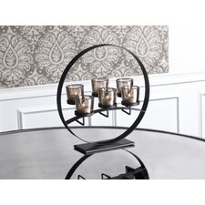 6-Light Floating Rings Centerpiece Candlebra