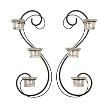 3-Light Double Swirl Sconce (Set of 2)