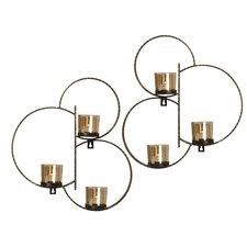 2 Piece Metal Sconce Set (Set of 2)