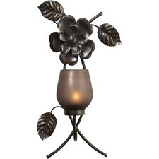 Rustic Flower Metal Sconce (Set of 2)