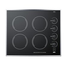 "24"" Electric Cooktop with 4 Burners"