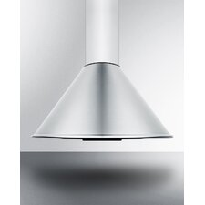 "23.5"" 600 CFM Convertible Wall Mount Range Hood in Stainless Steel"