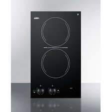 "19.7"" Electric Cooktop with 2 Burners"