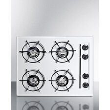 """24"""" Gas Cooktop with 4 Burners"""