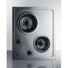 "21.25"" Electric Cooktop with 2 Burners"
