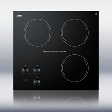 """20.63"""" Electric Cooktop with 3 Burners"""