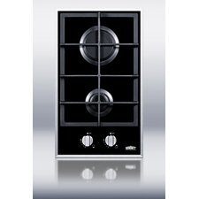 "12.25"" Gas Cooktop with 2 Burners"