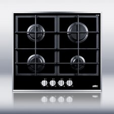 "23.25"" Gas Cooktop with 4 Burners"