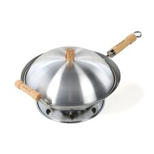 "6 Piece 14"" Round Bottom Wok Set"