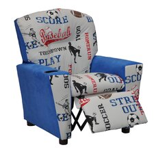Mixy Sports Suede Kids Recliner with Cup Holder