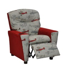 Mixy Vintage Airplanes Kids Cotton Recliner