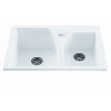 "Reliance 33.25"" x 21.75"" Discovery Double Bowl Kitchen Sink"