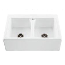"Reliance 33.25"" x 22.25"" Appalachian Double Bowl Kitchen Sink"
