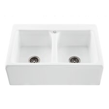 "Reliance 33.25"" x 22.25"" Appalachian Double Bowl Kitchen Sink"