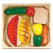 31 Piece Cutting Food Box Play Set