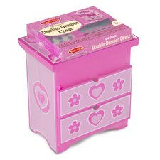 Decorate-Your-Own Wooden Double Chest of Drawers