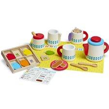 22 Piece Wooden Steep and Serve Tea Set