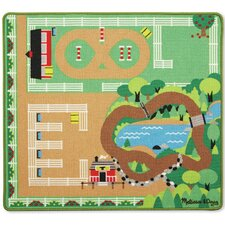 6 Piece Round the Ranch Horse Playmat Set