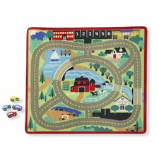 Round The Town Road Playmat