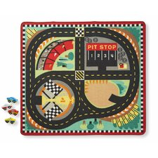 Round the Speedway Race Track Playmat