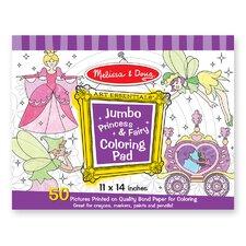 Jumbo Coloring Pad Princess and Fairy (Set of 2)