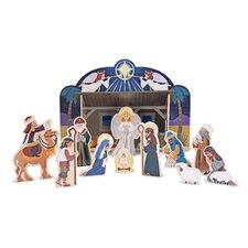 Wooden Nativity Figurine Set
