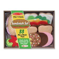 33-Piece Felt Food Sandwich Set