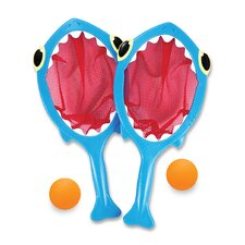 4 Piece Spark Shark Toss and Catch Pool Game