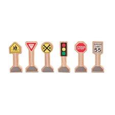 Wooden Traffic Signs Set (Set of 2)