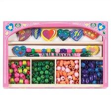Sweet Hearts Wooden Bead Set Arts & Crafts Kit