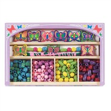 Butterfly Wooden Bead Set Arts & Crafts Kit