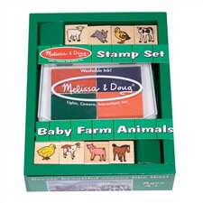 Baby Farm Animals Stamp Set Arts & Crafts Kit