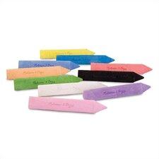 10 Jumbo Triangular Chalk Sticks (Set of 3)