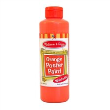 Orange Poster Paint Bottle