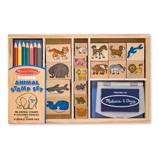 Wooden Animal Stamp Set