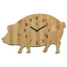 """Chef 7.5"""" Pork Chop Wall Clock"""