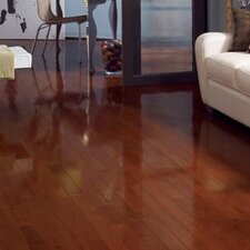 "Color Strip 2-1/4"" Solid Red Oak Hardwood Flooring in Cherry Oak High Gloss"